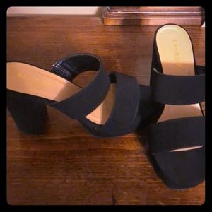 Bamboo chunky heels